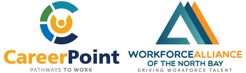 CareerPoint logo and Workforce Alliance of the North Bay logo
