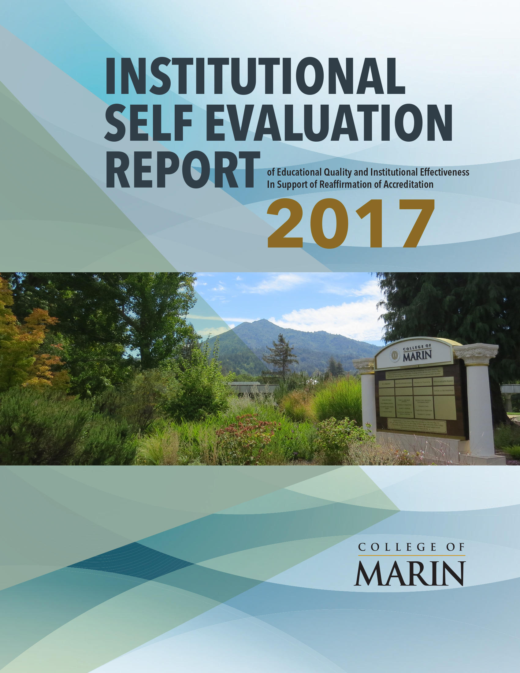 Institutional Self Evaluation Report 2017 Cover
