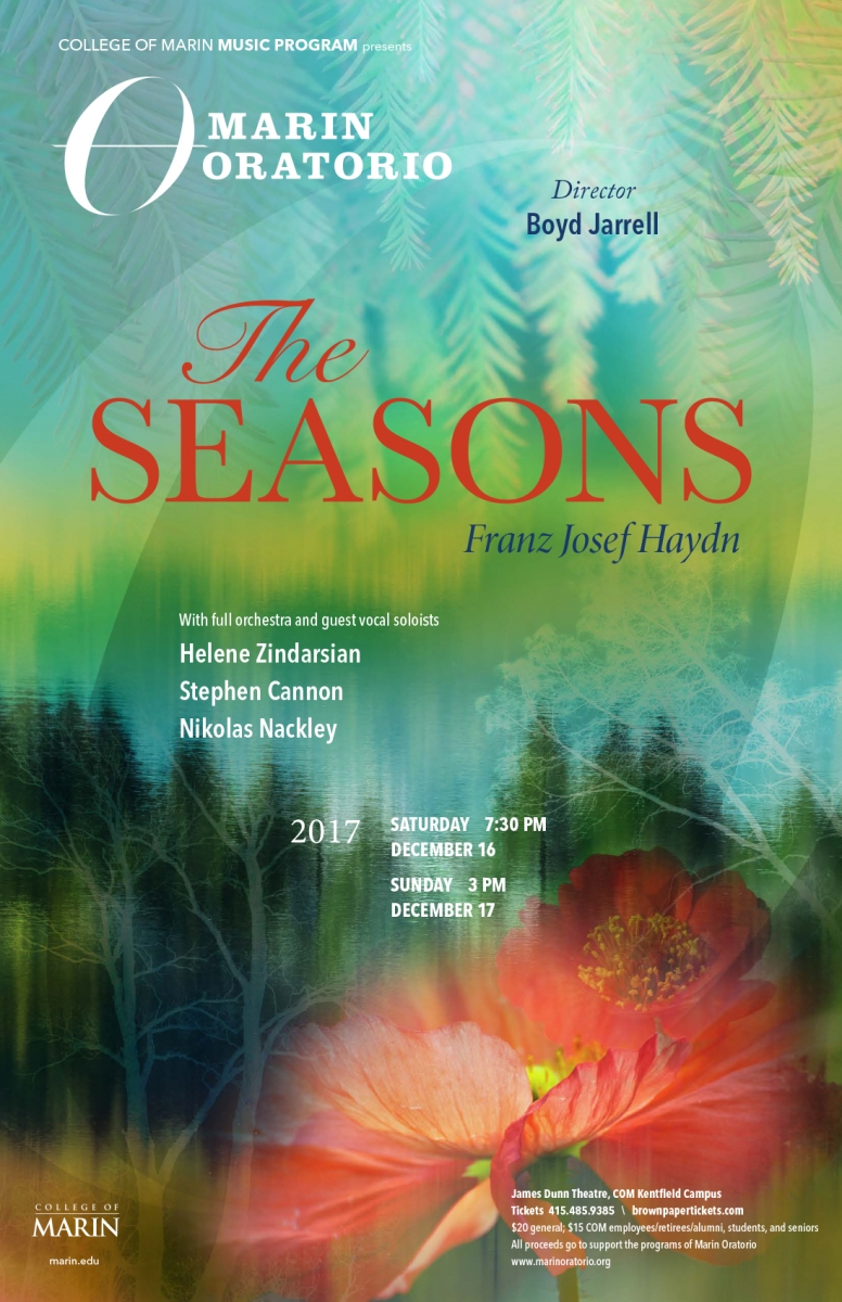 Marin Oratorio poster for The Seasons