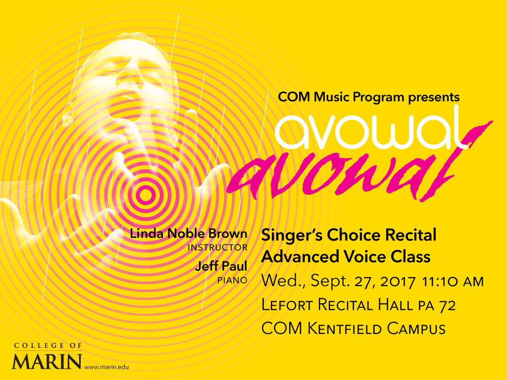Poster for advanced voice recital
